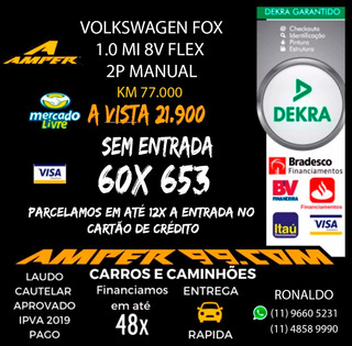 Volkswagen Fox 1.0 Mi 8v Flex 2p Manual / 2012 B75