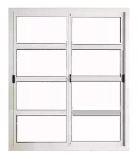 Puerta Corrediza 200 X 200 Repartido Blanco