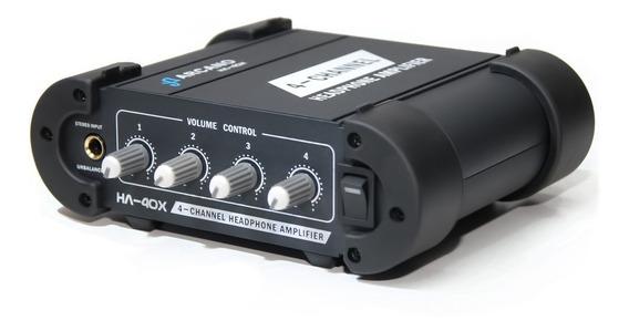 Amplificador De Fones Profissional Ha-40x Robusto 220v Sj