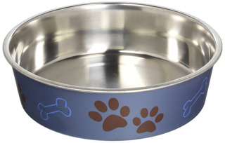 Loving Pets Metallic Bella Bowl Dog Bowl, Large, 2 Quarts, B