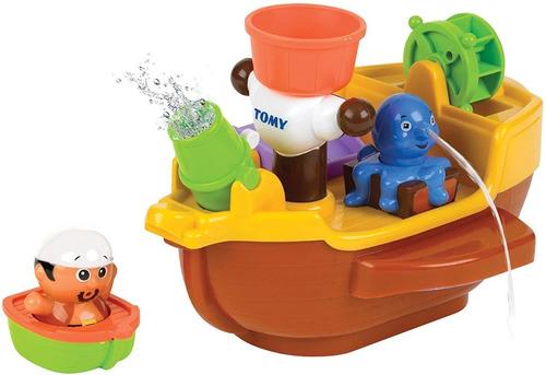 Barco Pirata Juego Para Baño Tomy Actividades 92117 Edu Full