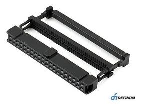 6x Conector Idc 40 Vias P/ Flat Cable Passo 1,27mm
