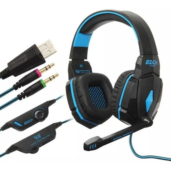 Fones De Ouvido Kotion Each G4000 Gamer Azul