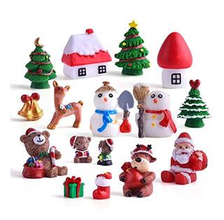 Kit De Adornos En Miniatura Para Casa De Hadas De Navidad