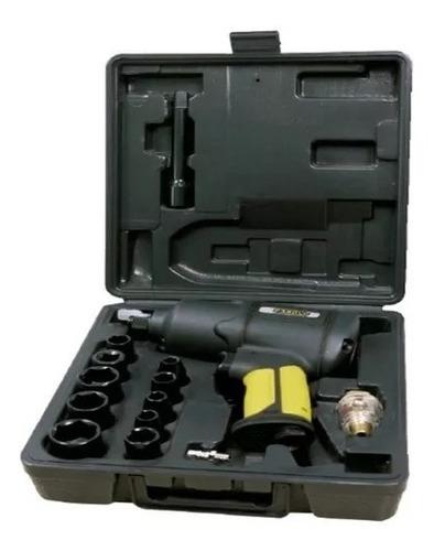 Kit Pistola Llave De Impacto 1/2´ Doble Martillo + Set Tubos
