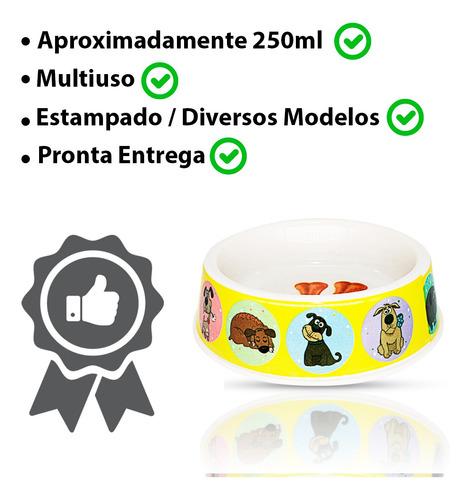 Bebedouro/comedouro Caes E Gatos Plst 18,5*5 Cm Cor:tobby 5
