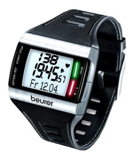 Pulsometro Digital Con Led/reloj Deportivo Pm62beurer Aleman