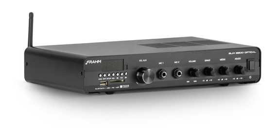 Amplificador Receiver Frahm Slim 2200 App Optical Bluetooth