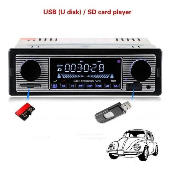 Rádio Vintage Retrô Fusca E Antigos Bluetooth Frete Grátis