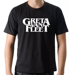 Camiseta Greta Van Fleet Banda Hard Rock Blues Rock