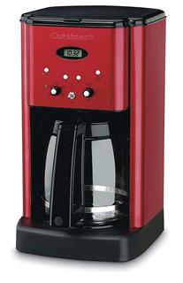 Cafetera Programable 12 Tazas De Color Rojo Metalizado