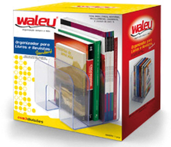 Acessorio Para Mesa Organizador De Livros Cristal Waleu Un