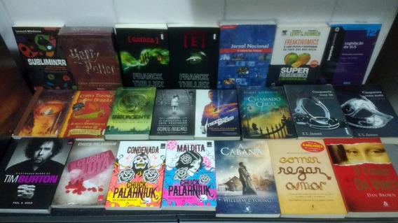 Lote 24 Livro C/ 50 Tons + Harry Potter + Codigo Vinci Rjhm