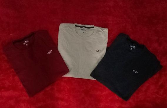 Camisa Hollister Originais, Kit 3 Direto Dos Eua, Promoção.