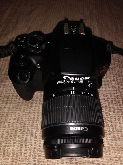 Câmera Fotográfica Canon Eos Rebel T6 + Lente 18-55 + Bolsa