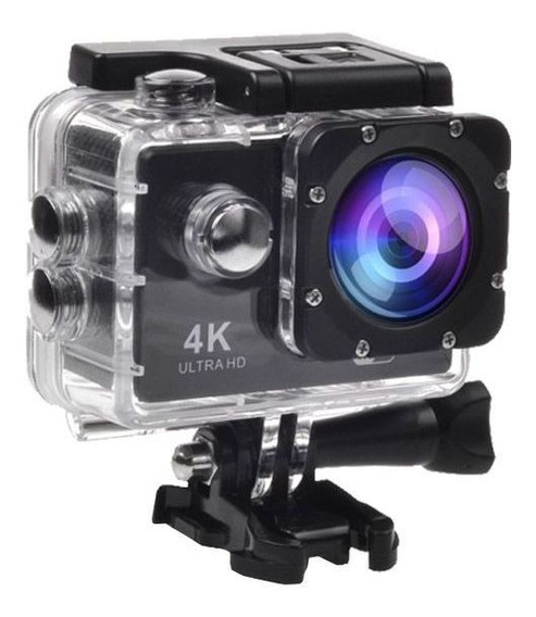 Filmadora 4k Hd 1080p Câmera 12mp Esporte Mergulho Capacete