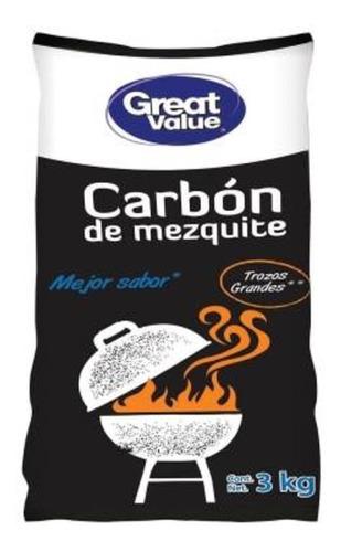 Carbón De Mezquite Great Value 3 Kg 2 Pack