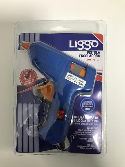Pistola Encoladora Liggo 7mm Para Silicona + 2 Barritas