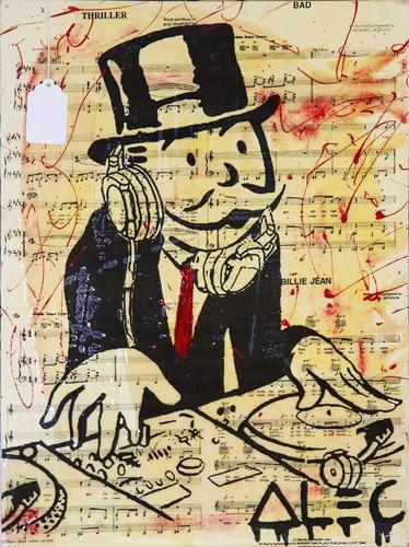 Poster Grafite 60cmx80cm Arte Urbana Alec Monopoly Dj