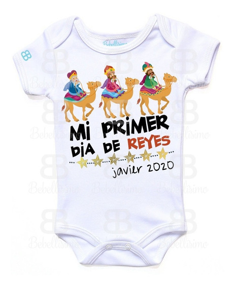 Pañalero Personalizado Bebé Reyes Magos Manga Corta O Larga
