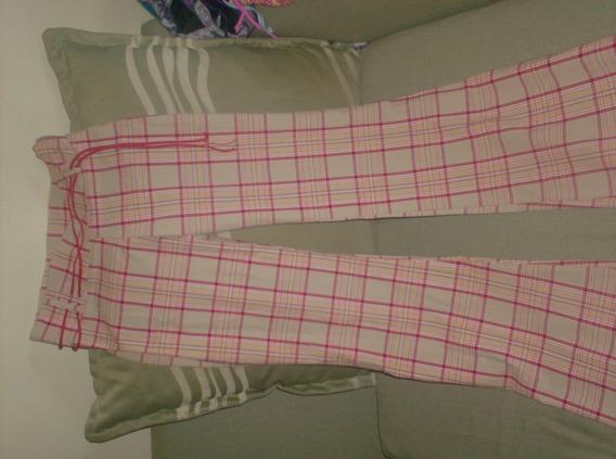 Pantalon A Cuadro Para Jovenes/ Damas - Talla S- Nuevo