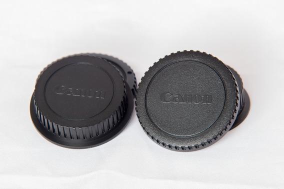 Tampa Para Corpo Da Câmera E Lente Canon.