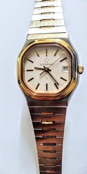 Eterna Relógio Suíço Feminino Quartz Aço/ouro Pulseira/caixa
