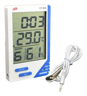 10 X Termómetro. Higrómetro Digital Sonda. Humedad Reloj.