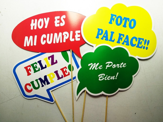 Props Fiesta Frases Listos Para Usar Pack X 12 Oferta!!!!