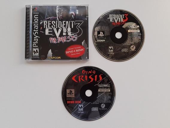 Resident Evil 3 Com Demo Do Dino Crisis Americano Completo!!