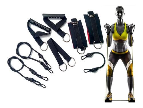 Kit Exercício Em Casa Elástico Extensor Crossfit 8 Itens