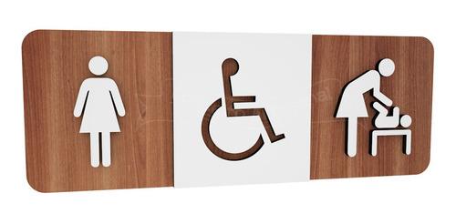 Plaquinha Banheiro Deficiente Hotel Restaurante Bar Empresa
