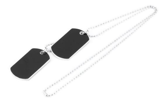 Collar Con Colgante Para Hombre, Diseño Militar, Color Negro