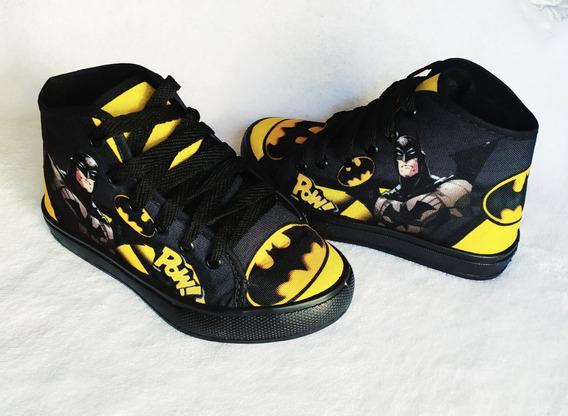 Tenis Personagens Batman Botinha