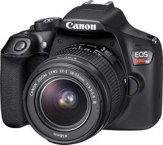 Cámara Reflex Canon Eos Rebel T6 18mp Wifi Lente 18-55mm