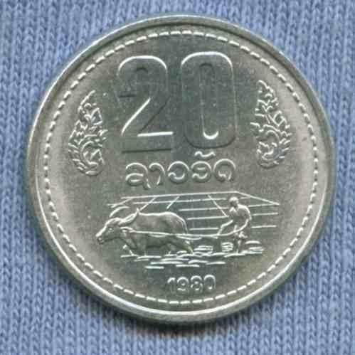 Laos 20 Att 1980 * Bufalo En Campo Arroz *