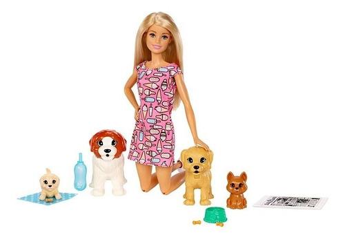 Imagen 1 de 7 de Muñeca Barbie Guardería De Perritos
