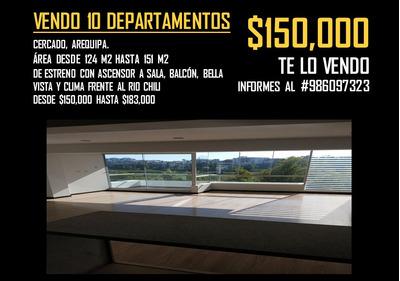 Vendo 10 Dptos. De Estreno, Ascensor A Sala, Vallecito.