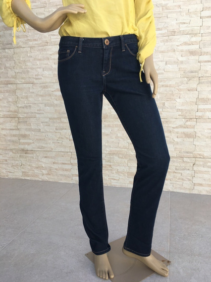 Calça Jeans Feminina Banana Republic Azul Escura
