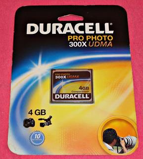 Compact Flash 4 Gb 300x * Duracell * Novo Sem Uso