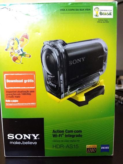 Action Cam Sony Hdr-as15 A Prova Dágua - Tipo Gopro Cam Ação