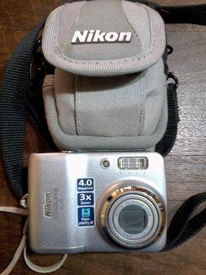 Camara Nikon Coolpix L4 3x Optical Zoom 4.0 Mp Con Funda