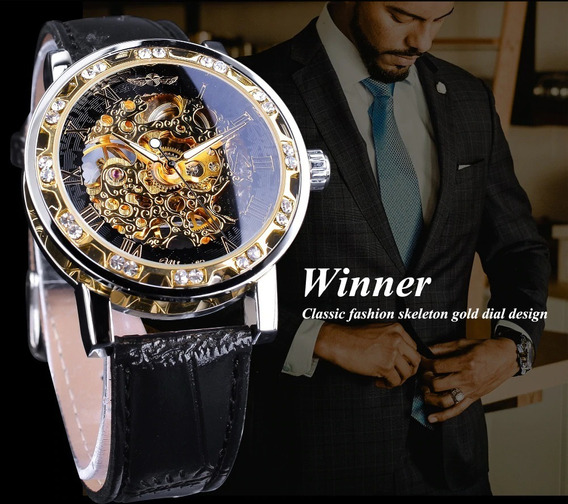 Relógio Winner Masculino Luxo Importado Original