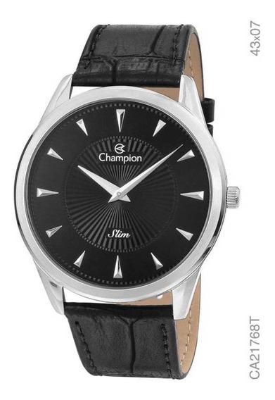 Relógio Champion Masculino Slim Pulseira De Couro Ca21768t