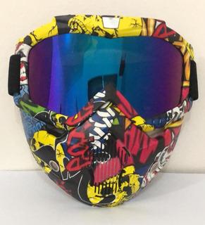 Mascara Protección Moto Motocross Bicicleta Bici Lentes