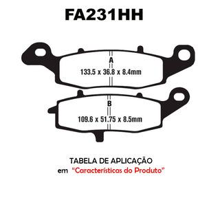 Pastilha Freio Ebc Fa231hh Er6n Moto Kawasaki Versys Vulcan
