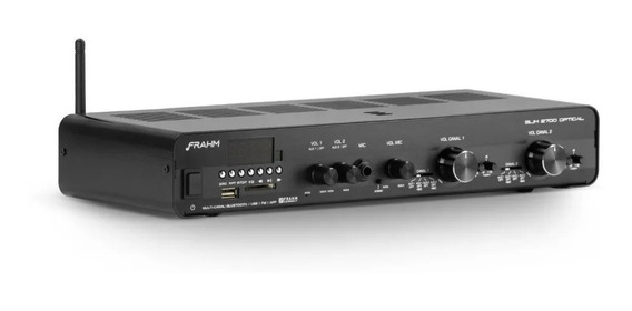 Amplificador Receiver Slim 2700 Optical Frahm Usb/blue