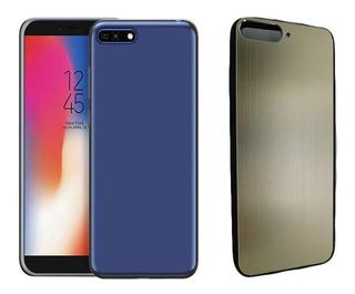 Funda Uso Rudo Aluminio Huawei Y6 2018 + Vidrio Gratis