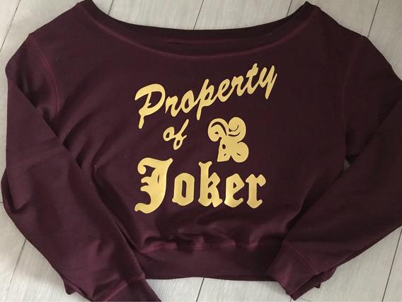 Sudadera Harley Quinn Crop Top Property Of Joker