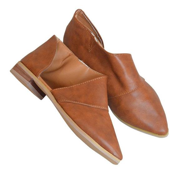 Botín Dama Camel Casual Moderno Vinipiel Zapato Envío Gratis